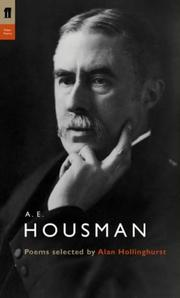 Cover of: A. E. Housman (Poet to Poet)