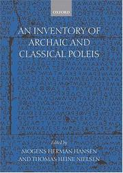 Cover of: An inventory of archaic and classical poleis