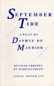 Cover of: September tide: a play in three acts.