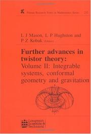 Cover of: Further Advances in Twistor Theory: Volume II | L.J. Mason