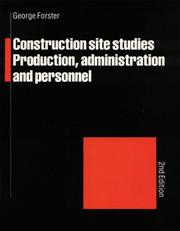 Cover of: Construction Site Studies