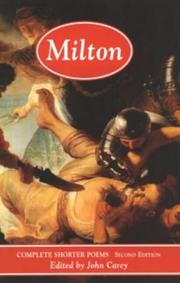 Cover of: John Milton | John Carey
