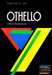 "Cover of: York Notes on William Shakespeare's ""Othello"""