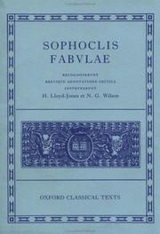 Cover of: Sophoclis Fabulae