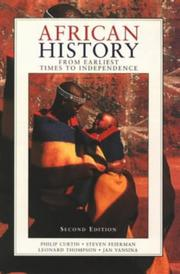 Cover of: African history