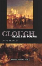 Cover of: Clough--selected poems