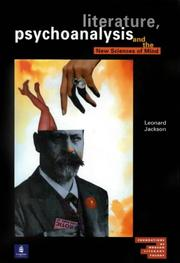 Cover of: Literature, psychoanalysis and the new sciences of mind | Leonard Jackson