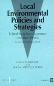Cover of: Local environmental policies and strategies |