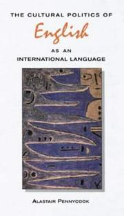 Cover of: The cultural politics of English as an international language