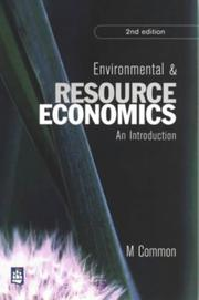Cover of: Environmental and resource economics