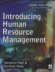 Cover of: Introducing human resource management | Margaret Foot