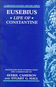 Cover of: Life of Constantine (Clarendon Ancient History Series) | Eusebius of Caesarea