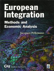 Cover of: European integration