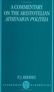 Cover of: A Commentary on the Aristotelian Athenaion Politeia