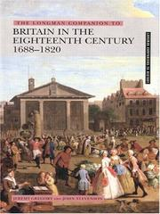 Cover of: The Longman companion to Britain in the eighteenth century, 1688-1820