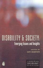 Cover of: Disability and Society