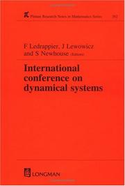 Cover of: International Conference on Dynamical Systems, Montevideo, 1995