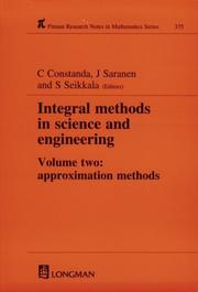 Cover of: Integral Methods in Science and Engineering (Research Notes in Mathematics Series) | Christian Constanda