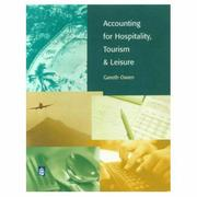 Cover of: Accounting for Hospitality, Tourism and Leisure