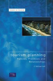 Cover of: Tourism planning: policies, processes and relationships