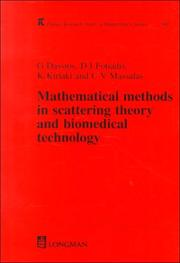Cover of: Mathematical Methods in Scattering Theory and Biomedical Technology (Research Notes in Mathematics Series) | George Dassios