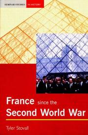 Cover of: France since the Second World War