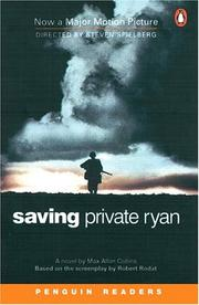 Cover of: Saving Private Ryan (Penguin Readers, Level 6) | Max Collins