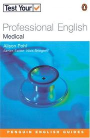 Cover of: Test Your Professional English - Medical (Test Your Professional English) by BRIEGEN