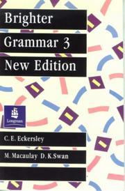 Cover of: Brighter Grammar (Blueprint) | C. E. Eckersley