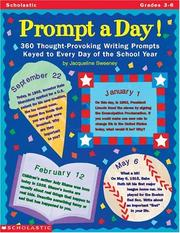 Cover of: Prompt-a-Day! (Grades 3-6)