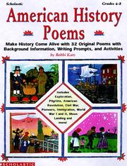 Cover of: American history poems