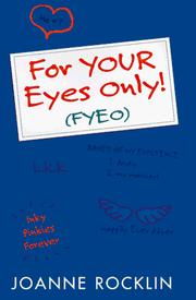 Cover of: For Your Eyes Only!