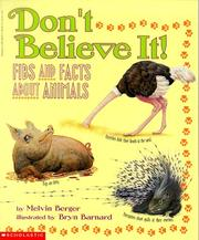 Cover of: Don't Believe It: fibs and facts about animals