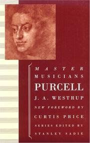 Cover of: Purcell (Master Musicians)