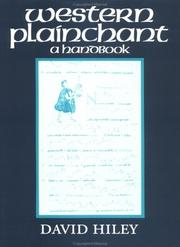 Cover of: Western plainchant