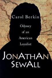 Cover of: Jonathan Sewall: Odyssey of an American Loyalist