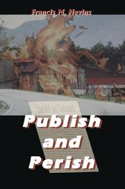 Cover of: Publish and Perish | Francis M. Nevins