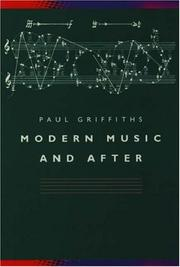 Cover of: Modern music and after