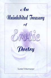 Cover of: An uninhibited treasury of erotic poetry