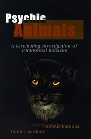 Psychic animals by Dennis Bardens