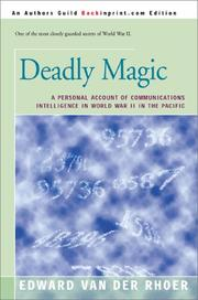 Cover of: Deadly Magic | Edward Van Der Rhoer
