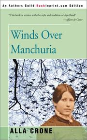 Cover of: Winds over Manchuria | Alla Crone