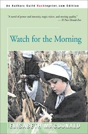 Cover of: Watch for the Morning