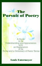 Cover of: The Pursuit of Poetry