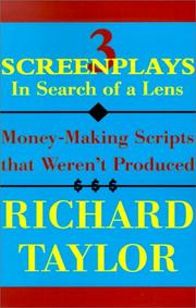 Cover of: 3 Screenplays in Search of a Lens
