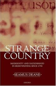 Cover of: Strange Country | Seamus Deane