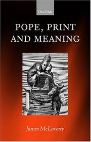 Cover of: Pope, print, and meaning | J. McLaverty