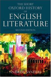 Cover of: The short Oxford history of English literature