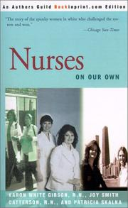 Cover of: Nurses | Karon White Gibson