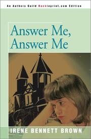 Cover of: Answer Me, Answer Me